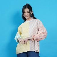 NONA RARA - Nirmala Pelangi T0946, Baju blouse batik wanita modern