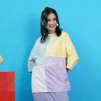 NONA RARA - Nirmala Viola T0956,Baju atasan blouse batik wanita modern