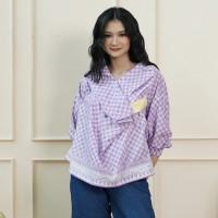 NONA RARA - Nirmala Adia T0941, Baju atasan blouse batik wanita modern