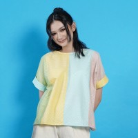 NONA RARA - Nirmala Quatro T0954, Baju blouse batik wanita modern