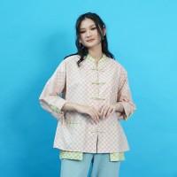 NONA RARA - Nirmala Borsa T0952,Baju atasan blouse batik wanita modern
