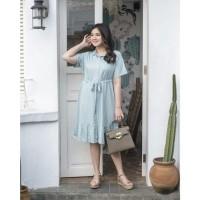 Dress Wanita Bahan Katun Super Adem Athena Dress (Busui Friendly) - baby toska
