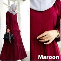 Gamis Arumi Maxi Dress Muslim Terbaru Termurah - Maroon