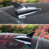 Antena Mobil Shark Fin 8 Led Flash Solar Charge Car Antenna Sirip Hiu