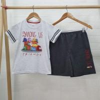 Setelan Baju Tidur Anak Laki Laki Hotpants Motif AMG Friends - Size 4