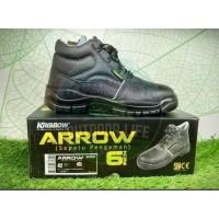 Sepatu Safety Sepatu Pengaman Arrow 6 Inch Original Krisbow - 39