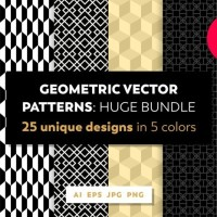 25 Luxury Geometric Vector Patterns