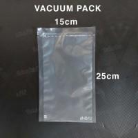 [50PCS] Plastik Vakum 15x25 Kemasan Vacuum Bag Polos Food Grade