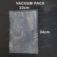 [50PCS] Plastik Vakum 23x34 Kemasan Vacuum Bag Polos Food Grade