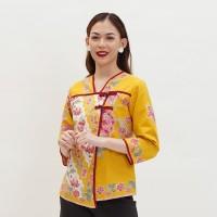NONA RARA - Tangga Encim T0128, Baju atasan blouse batik wanita modern