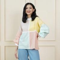NONA RARA - Nirmala Binar T0945,Baju atasan blouse batik wanita modern