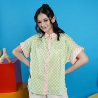 NONA RARA - Nirmala Caralena T0947, Baju blouse batik wanita modern
