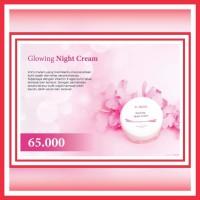 Glowing - ASDERMA AESTHETIC - cream malam pemutih & mencerahkan kulit