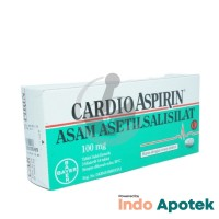 CARDIO ASPIRIN 100 MG 1 BLISTER ISI 10 TABLET
