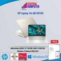 HP Laptop 14s-dk1507AU athlon Silver 3050U-4GB-512GB-Win 10-OHS 2019