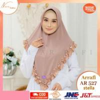 Arrafi jilbab hijab kerudung instan terbaru AR527 krudung cantik arafi - Sky blue