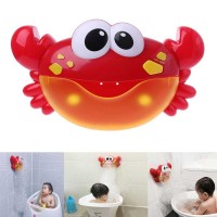 Bubble Crab Pembuat Gelembung Sabun Balon Otomatis dengan Musik - Merah