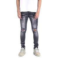A1 Distressed Light Grey - Celana Jeans