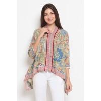 Alaya 3Negeri T0455,Baju atasan kerja blouse batik Nona Rara