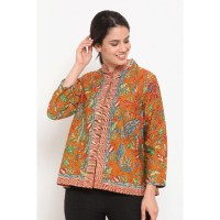 Viva 3Negeri T0479, Baju atasan kerja blouse batik Nona Rara murah - XS