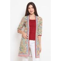 Aling 3Negeri T0456,Baju atasan kerja blouse batik wanita modern nona