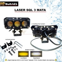 Lampu tembak Laser Foglamp SQL 3 MATA Superbright Hi Loo 60 Watt