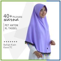 Jilbab Instan Pet Antem Tassel Size XL / Hijab Non Pet Bergo Tassel XL