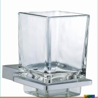 Diamond Tumbler Holder With Glass / Tempat Sikat Gigi TREND