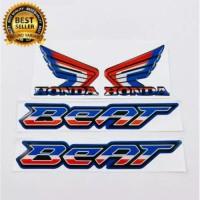 emblem timbum 3d logo HONDA BEAT SAYAP WINGS GOLD PAKET - GAMBAR F