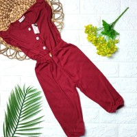 jumpsuit Jumsuit Jumper Bayi warna Polos Candy GBB - Maroon, 5