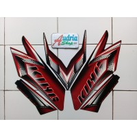 PR0M0!! Stiker Striping Motor Yamaha Rx King 2008 Hitam-Merah