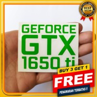 NVIDIA GEFORCE GTX 1650 ti CUTTING STIKER PC GAMING STIKER OUTDOOR