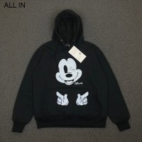 JAKET SWEATER HOODIE H&M MICKEY MOUSE FINGER HITAM
