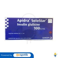 APIDRA 100 IU/ML INJEKSI 3 ML BOX 5 CARTRIDGE