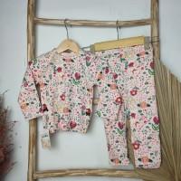 Setelan Baju Tidur Piyama Anak Laki Perempuan Import Premium 1-5 Tahun - Flowers, 55