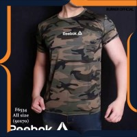 Baju pria kaos loreng army camo tentara ABRI TNI gym fitness komando