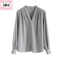 Baju atasan wanita G25 LANI korean style blouse lengan panjang import