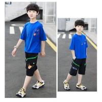 Baju Anak Remaja Laki-Laki 9-14 tahun Teen 270 Setelan Anak Laki-Laki - Kaos Biru, 130