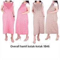 Baju Hamil Overall Hamil Kotak-Kotak 1846