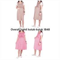 Baju Hamil Overall Hamil Kotak-Kotak ( No Inner ) 1848