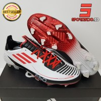 Sepatu Bola - Soccer Adidas F50 X Ghosted Adizero White Red Black - FG