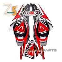 HMR Striping Honda Beat Karbu 2009 2010 Stiker Body Standar - Hitam