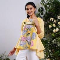NONA RARA - Langit Tamansari Yellow T0921, Baju blouse batik wanita
