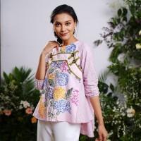 NONA RARA - Langit Tamansari Pink T0935, Baju blouse batik wanita