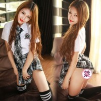LI-43 seifuku seragam sekolah jepang sexy lingerie baju tidur