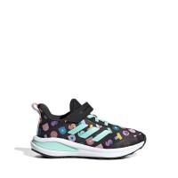 Adidas FortaRun x LEGO® DOTS™ Kids Running Shoes - Core Black - Black, UK 1