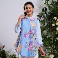 NONA RARA - Krisan Tamansari T0916, Baju atasan blouse batik wanita - S
