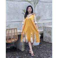 Isuka Fashion Acushla Dress Fit to LD 108-120cm Cocok untuk BB 60-95kg - Mustard