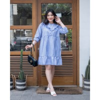 Isuka Fashion Meina Dress Fit to LD 115cm Cocok untuk BB 60-85kg - Blue