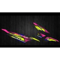 JUAL STIKER MIO SPORTY / CARBU / KARBU / LAMA RACING STRIPING MOTOR